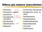 difese pi mature nevrotiche