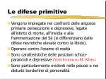le difese primitive