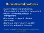 nurse directed protocols