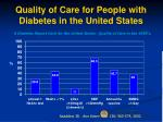quality of care for people with diabetes in the united states