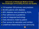 university of pittsburgh medical center the challenges of providing access and quality