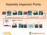 assembly inspection points