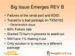 big issue emerges rev b