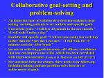 collaborative goal setting and problem solving