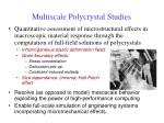 multiscale polycrystal studies