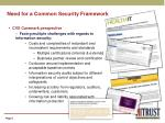 need for a common security framework5