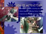 auto tech ii activities