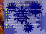 ford aaa student auto skills contest