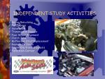 independent study activities