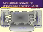 consolidated framework for implementation research cfir3