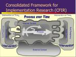 consolidated framework for implementation research cfir4
