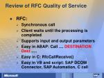 review of rfc quality of service