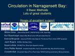 circulation in narragansett bay 3 basic methods lots of great students heaps of excellent support
