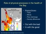 role of physical processes in the health of the bay5