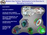 modern gas turbine optimization is an exercise in managing complexity