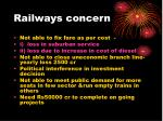railways concern