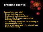 training contd