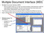 multiple document interface mdi