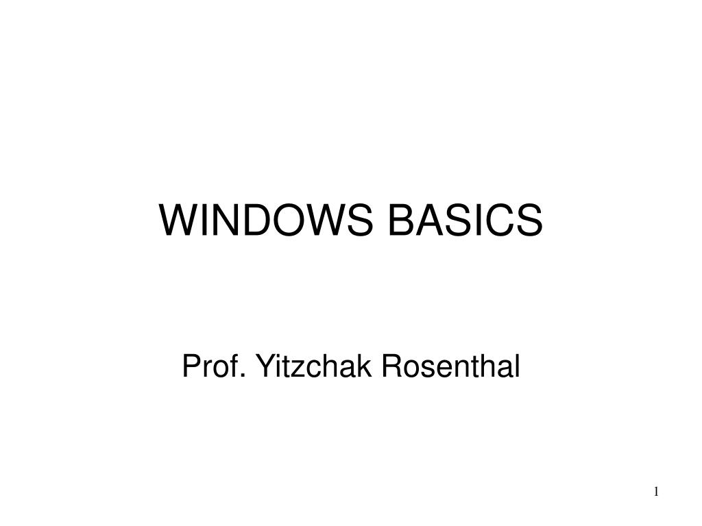 windows basics l.