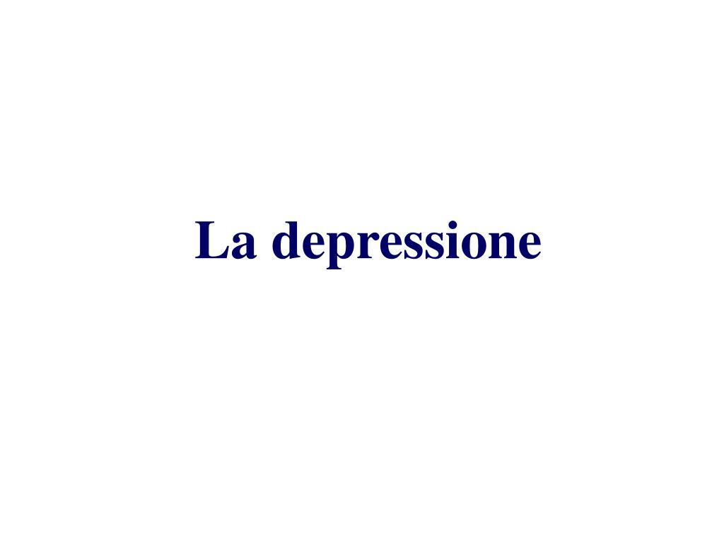 la depressione l.