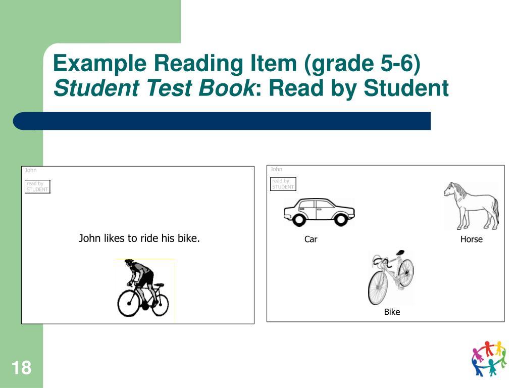 Example Reading Item (grade 5-6)