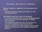strategic decisions railways4