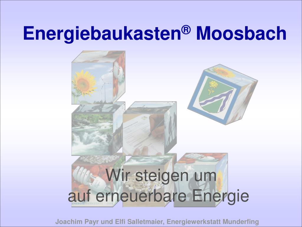 energiebaukasten moosbach l.