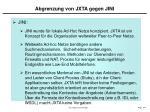 abgrenzung von jxta gegen jini