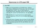 abgrenzung von jxta gegen rmi
