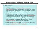 abgrenzung von jxta gegen web services