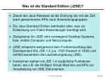 was ist die standard edition j2se