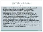 alcts long definition