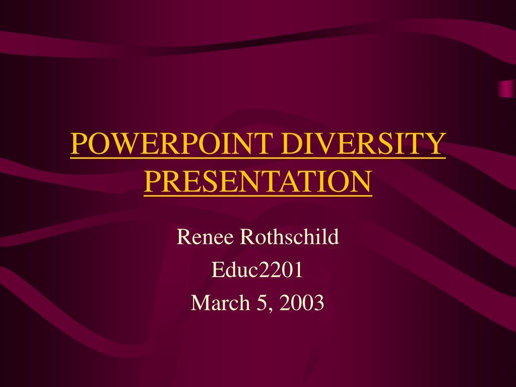 powerpoint diversity presentation l.