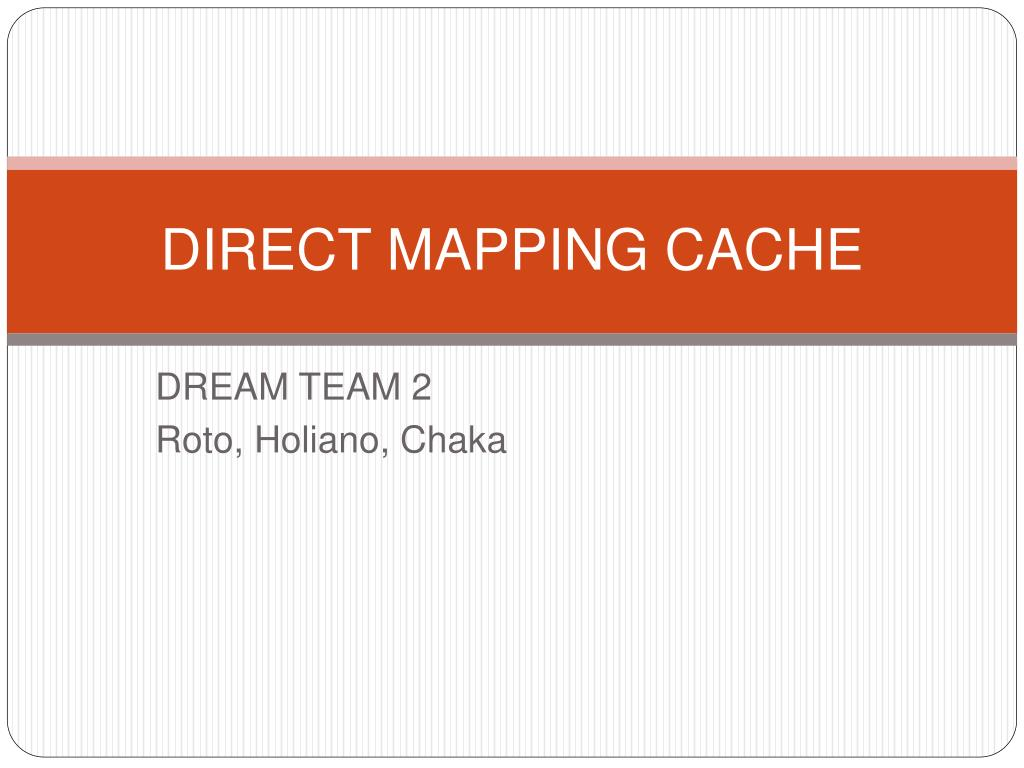 direct mapping cache l.