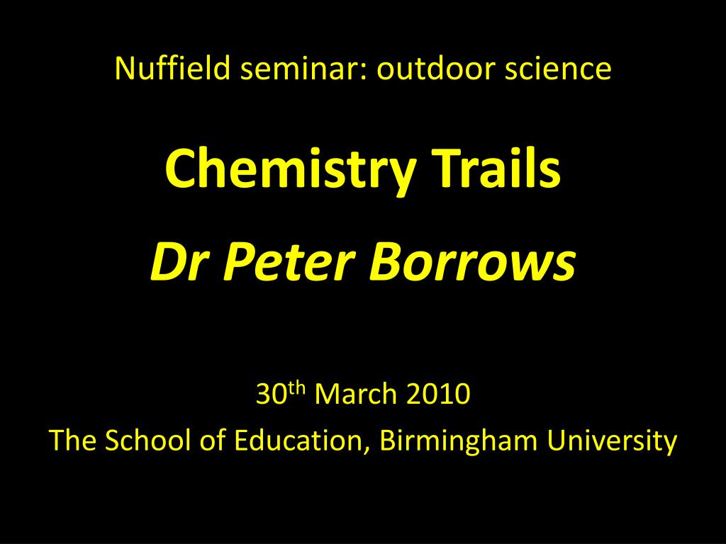 nuffield seminar outdoor science l.