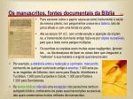os manuscritos fontes documentais da b blia5