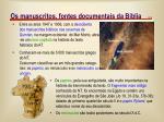 os manuscritos fontes documentais da b blia6