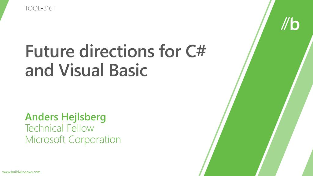 future directions for c and visual basic l.