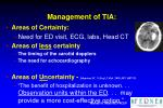 management of tia