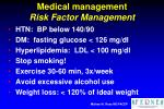 medical management risk factor management