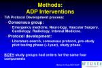 methods adp interventions