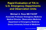 rapid evaluation of tia in u s emergency departments and observation units