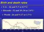 birth and death rates