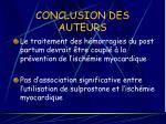 conclusion des auteurs24