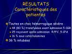 resultats caract ristiques des patientes14