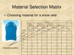 material selection matrix11
