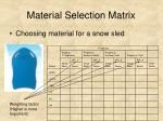 material selection matrix12