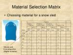 material selection matrix14