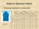 material selection matrix16