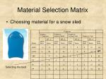material selection matrix17